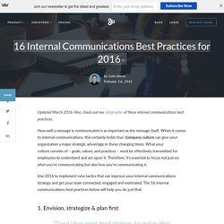 16 Internal Communications Best Practices for 2016