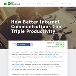 How Better Internal Communications Can Triple Productivity