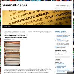 101 Must Read Books for PR and Communications Professionals