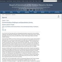 Federal Reserve Board - Communications Challenges and Quantitative Easing