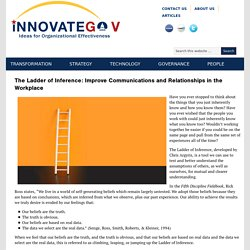 The Ladder of Inference: Improve Communications and Relationships in the Workplace