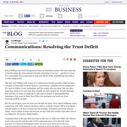 Communications: Resolving the Trust Deficit