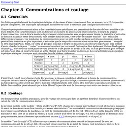 Communications et routage