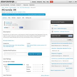 Miranda IM | Download Miranda IM software for free at SourceForge