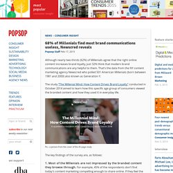 68% of Millenials find most brand communications useless, Newscred reveals – POPSOP
