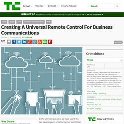 Creating A Universal Remote Control For Business Communications