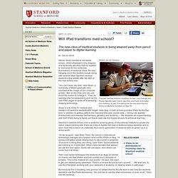 Will iPad transform Stanford's med school?