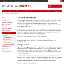 E-communications - University of Houston
