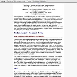 Kitao & Kitao-Testing Communicative Competence