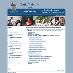 UNIT 4C - Communicative Language Teaching