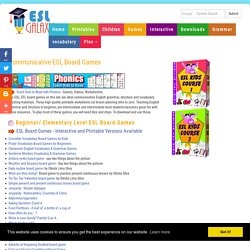 ESL Communicative Board Games, Lesson Plan Materials for TEFL Teachers