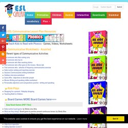 ESL Speaking Lesson Plans, Communicative TEFL Resources