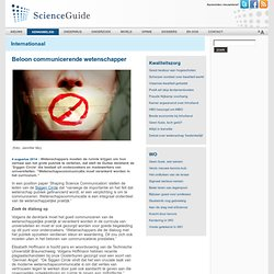 ScienceGuide: Beloon communicerende wetenschapper siggen
