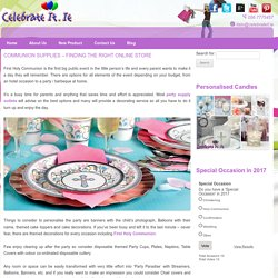 Communion Supplies – Finding The Right Online Store