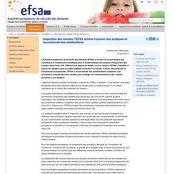 EFSA 27/06/13 Inspection des viandes: l'EFSA achève l'examen des pratiques et recommande des améliorations