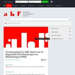 [Communiqué] L'ABF alerte sur le dispositif Prêt Numérique en Bibliothèque (PNB)