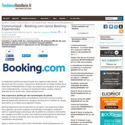 Communiqué Booking.com lance Booking Experiences