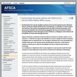 AFSCA 13/09/18 Confirmation de 2 cas de sangliers porteurs du virus de la peste porcine africaine dans la commune d'Etalle (province du Luxembourg).
