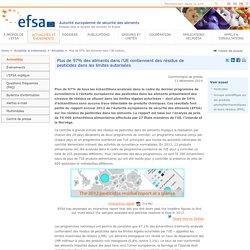 EFSA 11/12/14 Plus de 97% des aliments dans l'UE contiennent des résidus de pesticides dans les limites autorisées