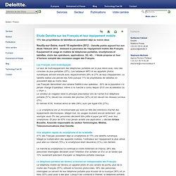 Communiqué de presse : Etude Deloitte sur les Français et leur équipement mobile