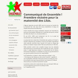 Communiqué de Ensemble ! Première victoire pour la maternité des Lilas.