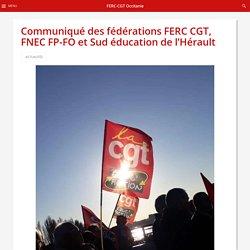 Communiqué des fédérations FERC CGT, FNEC FP-FO et Sud éducation de l'Hérault