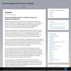Lorience - Communiqué de Presse GratuitCommuniqué de Presse Gratuit