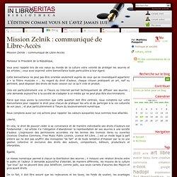 Mission Zelnik : communiqué de Libre-Accès