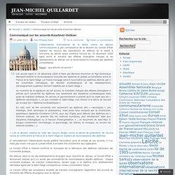 Communiqué sur les accords Kouchner-Vatican « JEAN-MICHEL QUILLARDET