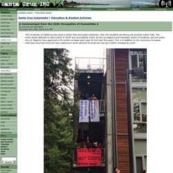 A Communiqué from the UCSC Occupation of Humanities 2