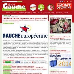 Le Parti de Gauche suspend sa participation au PGE