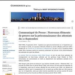 Communiqué de Presse : Nouveaux éléments de preuve sur la préconnaissance des attentats du 11-Septembre