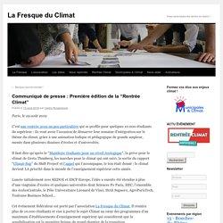 """Communiqué de presse : Première édition de la """"Rentrée Climat"""""""