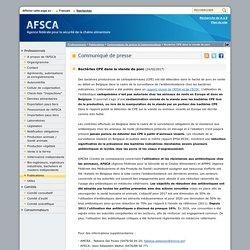 AFSCA 24/02/17 Bactéries CPE dans la viande de porc