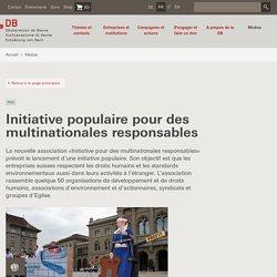 Communiqué de presse – Déclaration de Berne