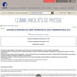 Communique de presse-Danone finance