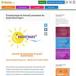 [Communiqué de Presse] Lancement du projet Boost'Ages ! - 22/11/16