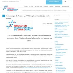 Communiqué de Presse : La FPDC réagit au Projet de Loi sur les drones