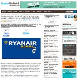 Communiqué Ryanair lance le nouveau service d'hébergement RYANAIR ROOMS