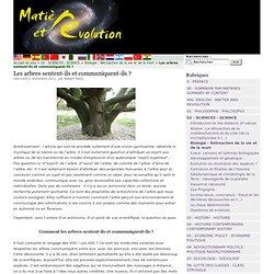 Les arbres sentent-ils et communiquent-ils ?