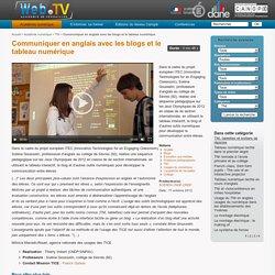 Communiquer en anglais avec les blogs et le tableau numérique