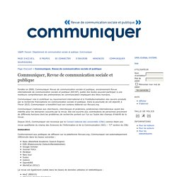Communiquer, Revue de communication sociale et publique