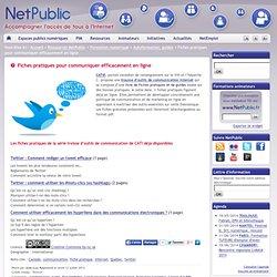 Fiches pratiques pour communiquer efficacement en ligne