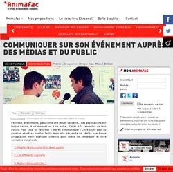 Fiche 12 : Communiquer sur son événement auprès des médias et du public