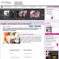 L'anglais : communiquer avec un fournisseur