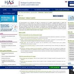 Communiquer - Impliquer le patient - Boîte à outils HAS