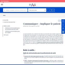 Communiquer - Impliquer le patient