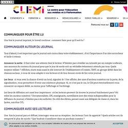 Communiquer pour être lu- CLEMI