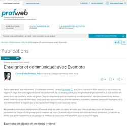 Enseigner et communiquer avec Evernote