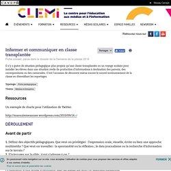 Informer et communiquer en classe transplantée- CLEMI